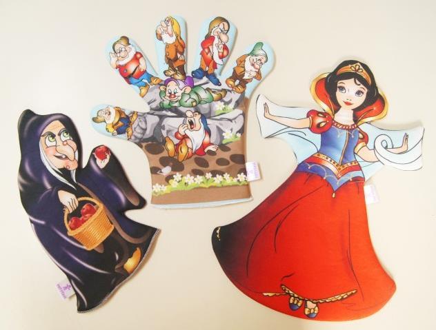 Pamuk Prenses çift Yönlü Kukla Seti Okul öncesi Destek