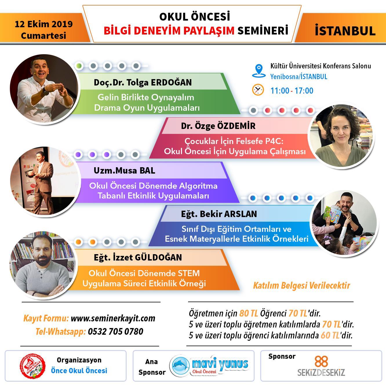 Istanbul Semineri Ogretmen Bileti 12 Ekim 2019 Cumartesi Okul