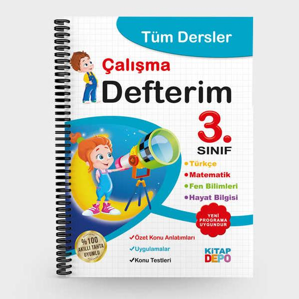 3 Sinif Tum Dersler Calisma Defterim Akilli Tahtaya Uyumlu Okul