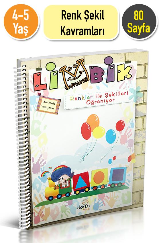 4 5 Yas Limbik Renkleri Ve Sekilleri Ogreniyor Etkinlik Kitabi
