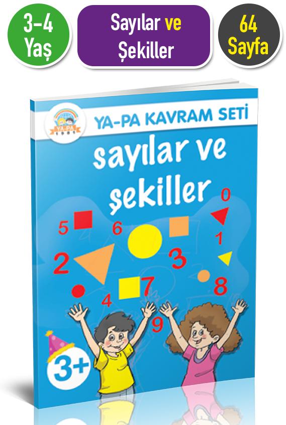 3 4 Yas Sayilar Ve Sekiller Etkinlik Kitabi Ya Pa Yayinlari Okul
