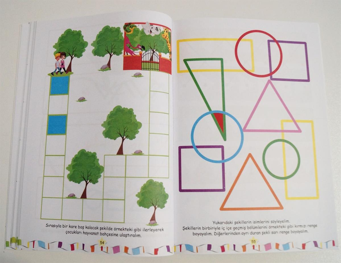 5 6 Yas Renk Sekil Ve Dikkat Gelistirici Etkinlik Kitabi Okul