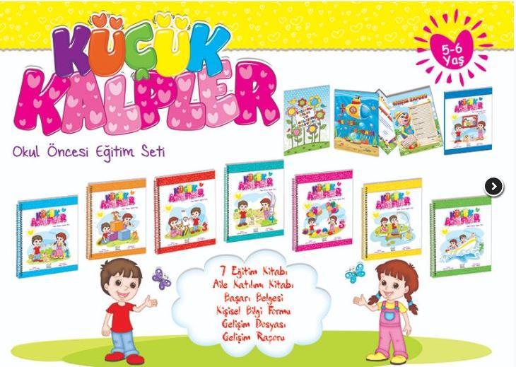 5 6 Yaş Ve üzeri çocuklara Küçük Kalpler Eğitim Seti Ata