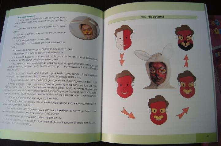 Renkli Dünyalar Kostümler Ve Yüz Boyama örnekleri Kitabı Okul