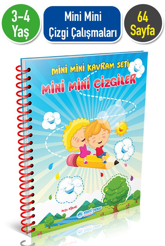 3 4 Yas Mini Mini Cizgi Calismalari Kitabi Okul Oncesi Destek