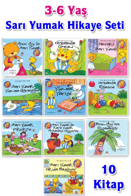 Sari Yumak Hikaye Seti 3 6 Yas 10 Kitap Okul Oncesi Destek