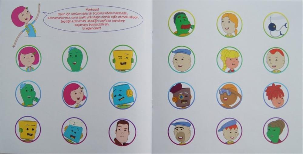 Ibi Ile öykülü Boyama Kitabı 5 Kitap Okul öncesi Destek