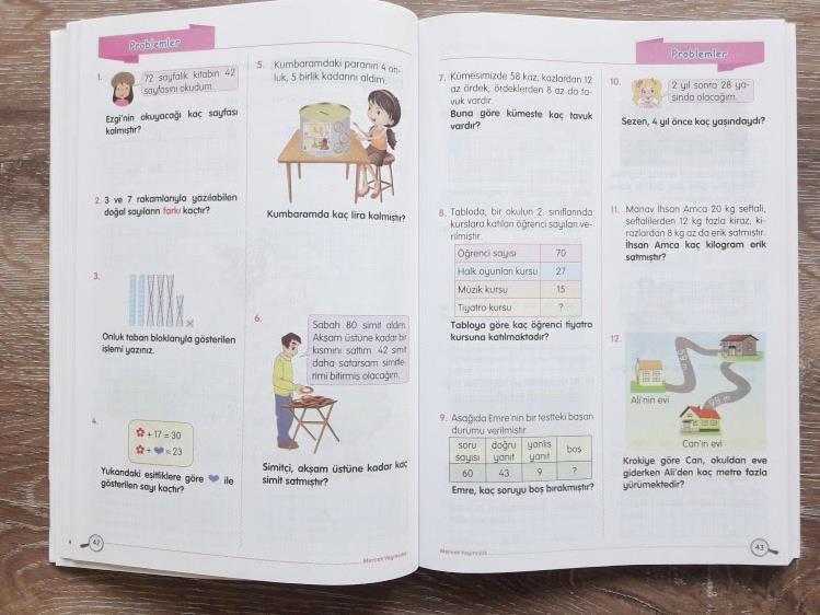 2 Sinif Matematik Ders Pusulam Calisma Kitabi Okul Oncesi Destek