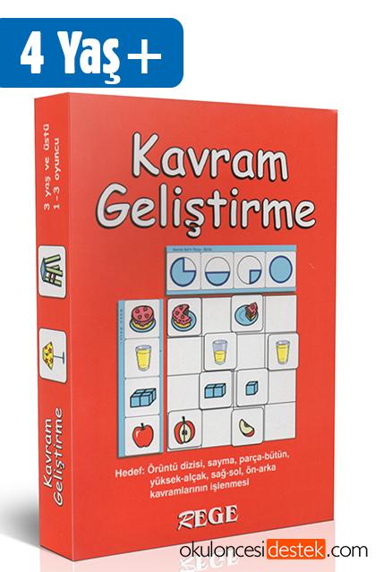 Rege 3 Yaş Ve üzeri çocuklara Kavram Geliştirme Oyun Kartları Okul
