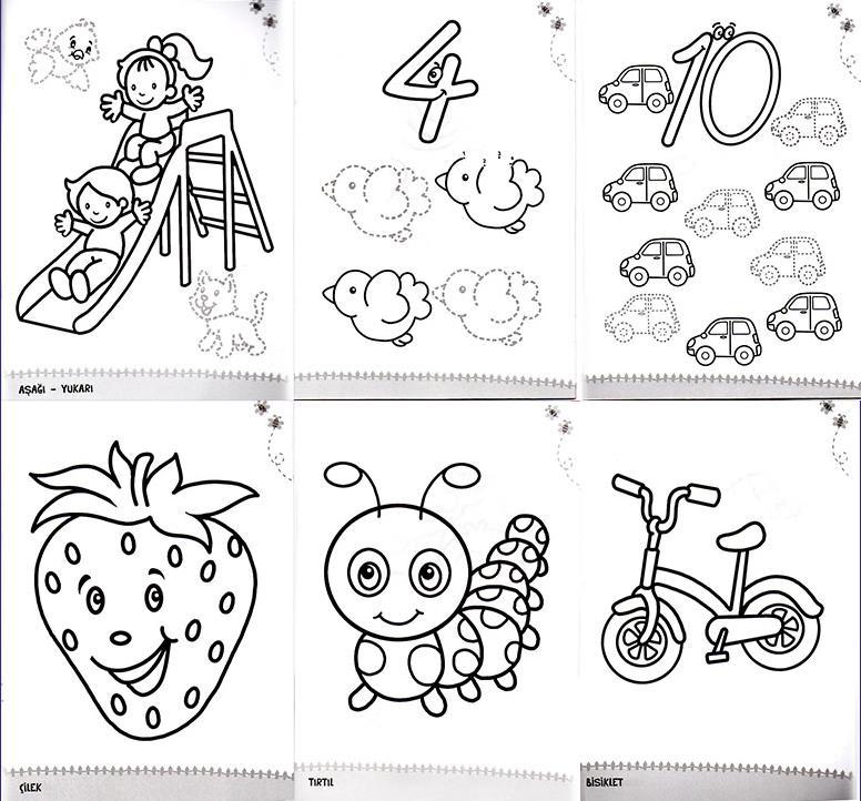 Konulu Boyama Seti 3 6 Yaş 6 Kitap 6 Konu Okul öncesi