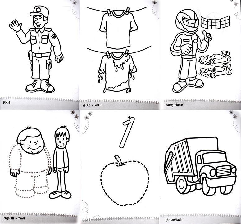 Konulu Boyama Seti 3 6 Yas 6 Kitap 6 Konu Okul Oncesi Destek
