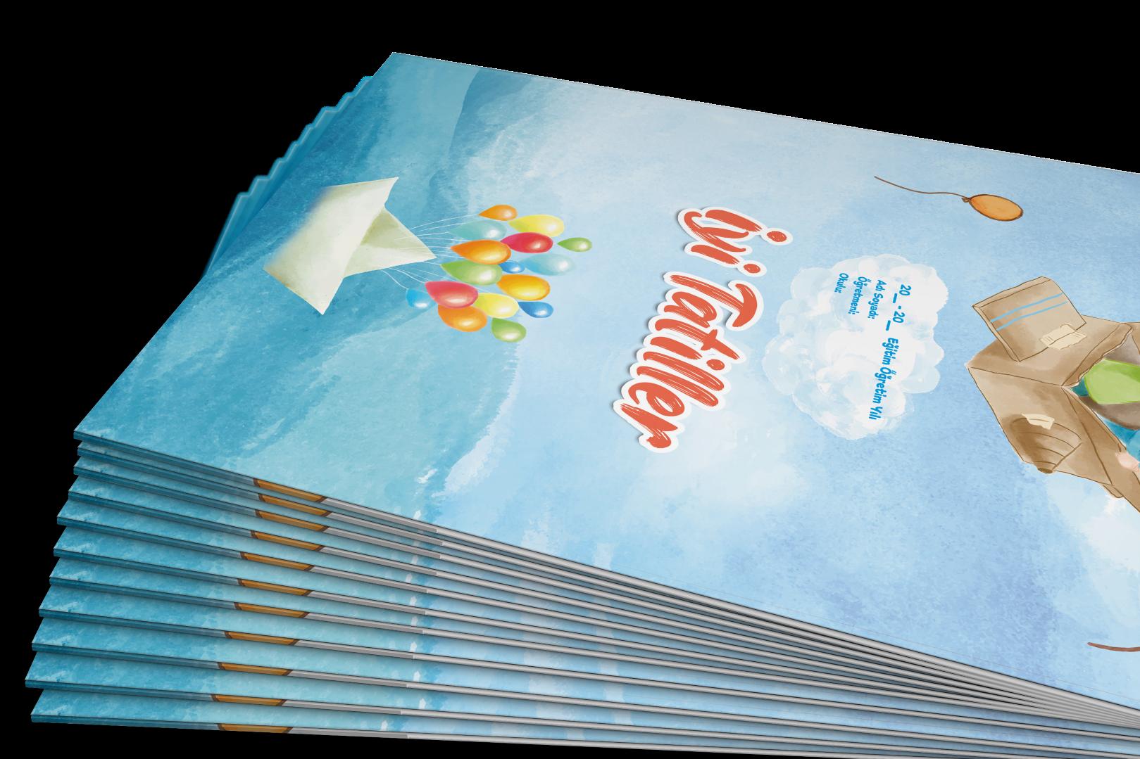Sulu Boya Temali Karne Kilifi Gelisim Raporu Kapagi Okul Oncesi