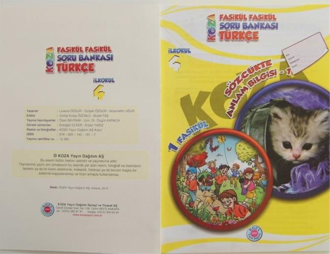 Fasiküllü Ilkokul 4 Sınıf Türkçe Soru Bankası Okul öncesi Destek