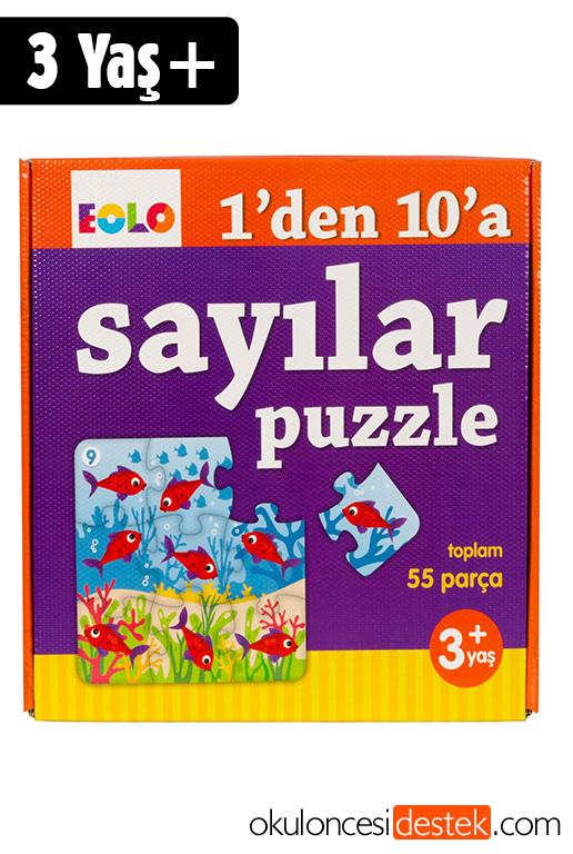 Eolo Oyuncak 3 Yaş Ve üzeri çocuklar Için 1den 10a Sayılar Puzzle