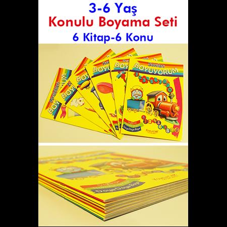 Konulu Boyama Seti 3 6 Yaş 6 Kitap 6 Konu Okul öncesi Destek